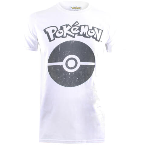 Pokemon Men's Pokeball Symbol T-Shirt - White