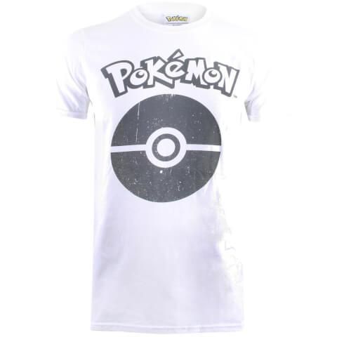 T-Shirt Homme Pokémon Pokéball Symbol - Blanc