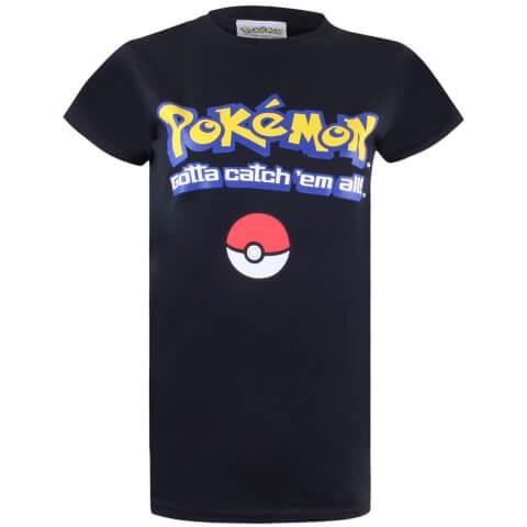 Pokemon Men's Gotta Catch Em All Logo T-Shirt - Black