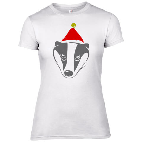 Badger with Santa Hat Women's T-Shirt
