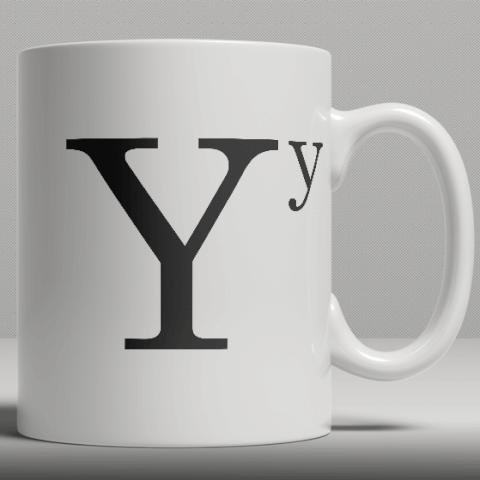 Alphabet Ceramic Mug - Letter Y
