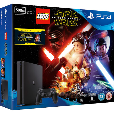 Sony PlayStation 4 Slim 500GB Console - Includes LEGO Star Wars: The Force Awakens & Star Wars: The Force Awakens Blu-ray
