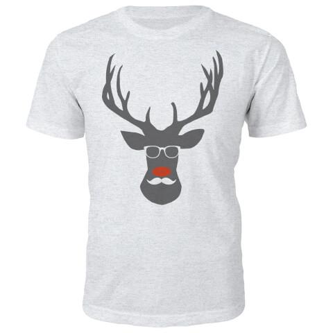 Rude Dolf Christmas T-Shirt - Grey