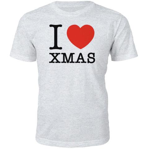 T-Shirt Homme I Heart Xmas -Gris
