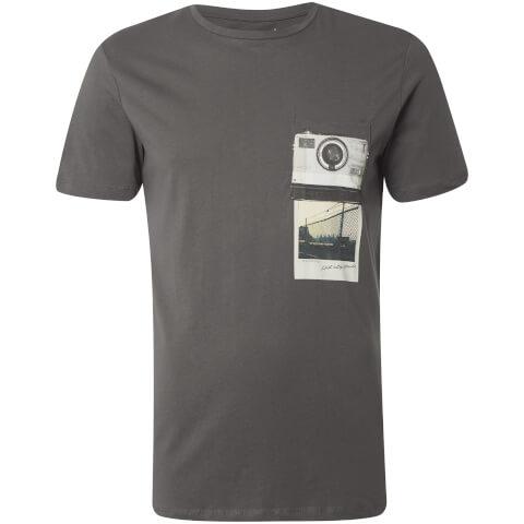 Jack & Jones Men's Originals Check T-Shirt - Asphalt