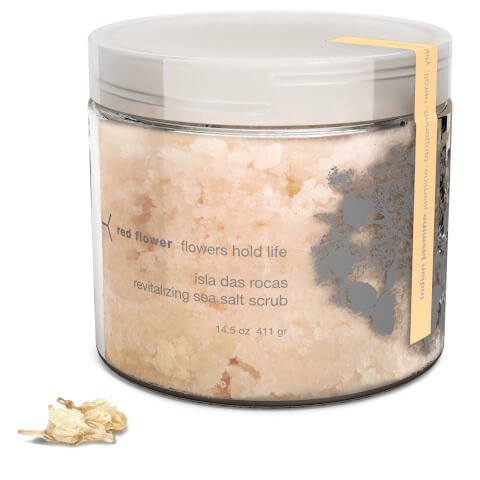 Red Flower Indian Jasmine Isla Das Rocas Revitalizing Sea Salt Scrub