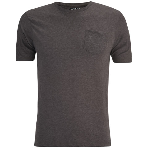 Brave Soul Men's Arkham Pocket T-Shirt - Dark Charcoal Marl