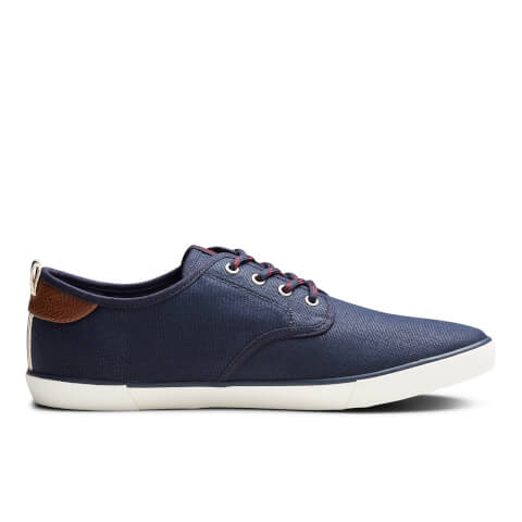 Jack & Jones Men's Tack Waxed Canvas Trainers - Navy Blazer