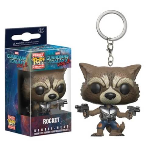 Llavero Pocket Pop! Rocket - Guardianes de la Galaxia Vol. 2