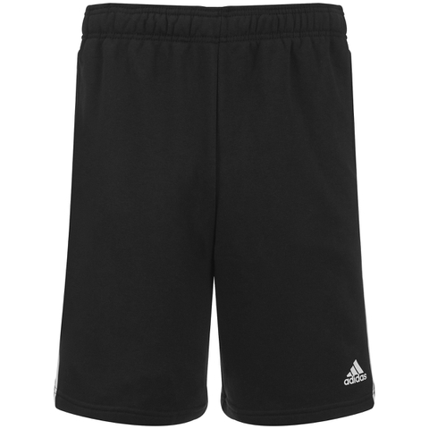 adidas Men's Essential 3 Stripe Fleece Jog Shorts - Black