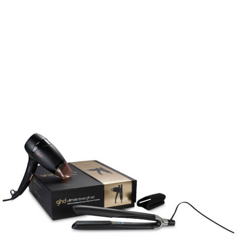 ghd Ultimate Travel ghd Platinum with ghd Flight Travel Hair Dryer Gift Set