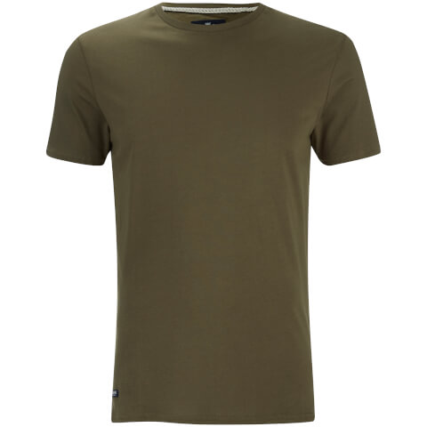 Threadbare Men's Max Long Line T-Shirt - Khaki