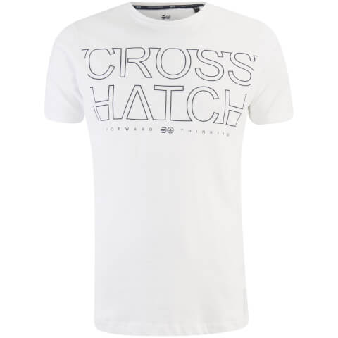 Crosshatch Men's Quebec Logo T-Shirt - White