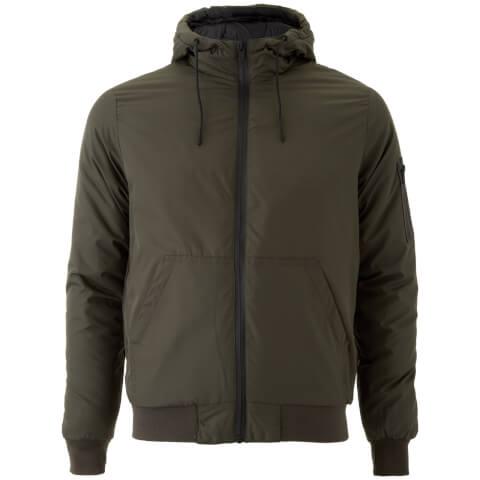 Brave Soul Men's Plutonium Hooded Jacket - Khaki