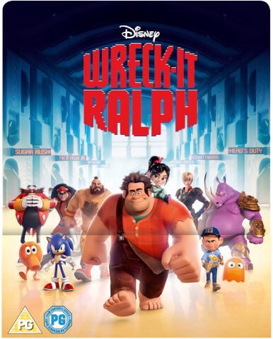 Wreck-It Ralph 3D (Includes 2D Version) - Zavvi Exclusive Lenticular Edition Steelbook