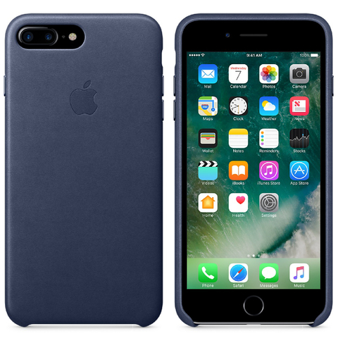 Apple iPhone 7 Plus Leather Case - Midnight Blue