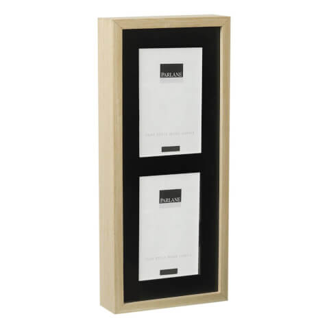 Parlane Solna Wooden Frame - Black/Natural (27 x 22cm)