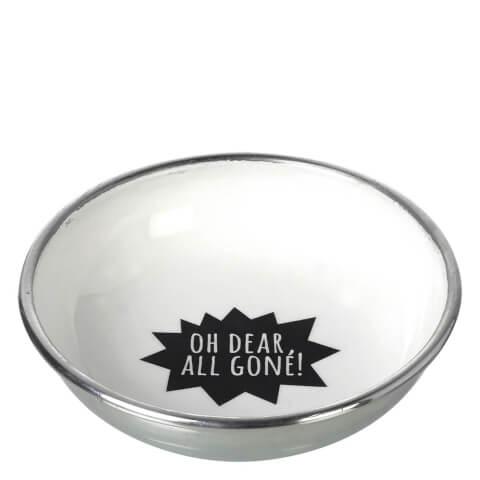 Bol en Aluminium 'All Gone' Parlane - Blanc/ Noir (13cm)