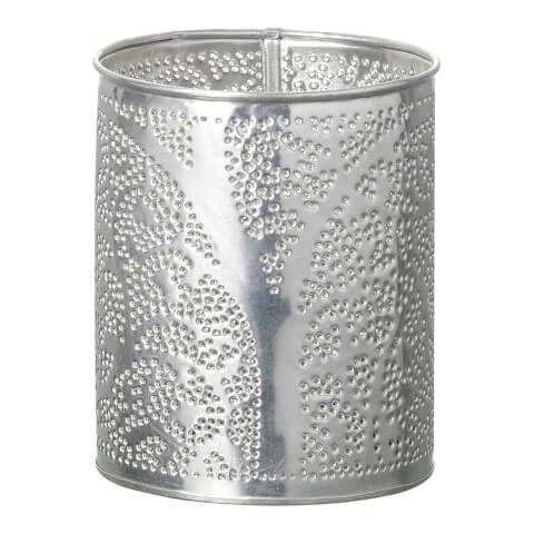 Parlane Novita Metal Tealight Holder - Silver (11 x 9cm)