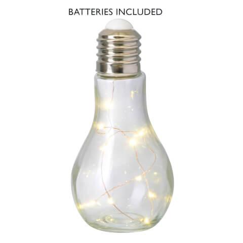 Parlane Bulb LED Push Light - Glass (13 x 8.5cm)