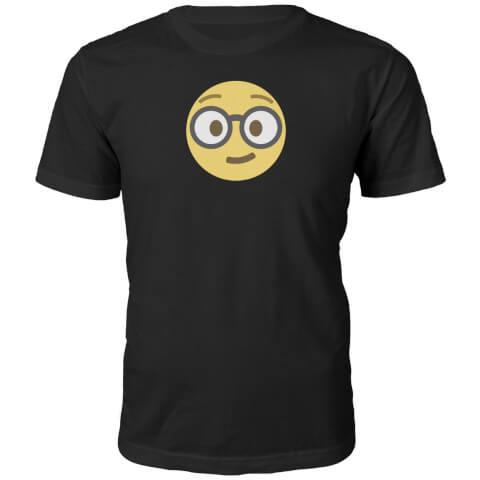 T-Shirt Unisexe Emoji Geek -Noir
