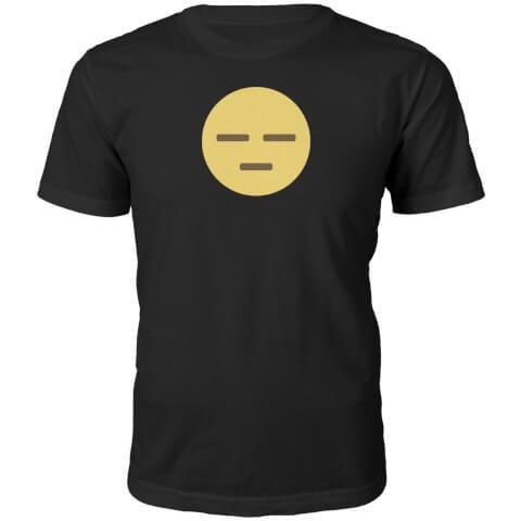 Emoji Unisex Meh Face T-Shirt - Black