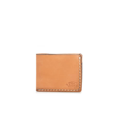 Jack & Jones Men's Vintage Leather Wallet - Oatmeal
