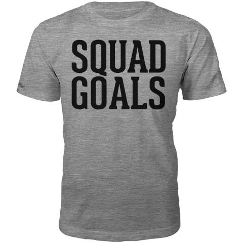 Squad Goals Slogan T-Shirt - Grey