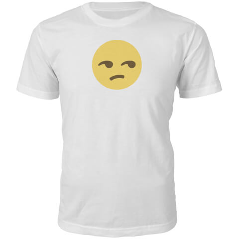 Emoji Unisex Side Eye Face T-Shirt - White