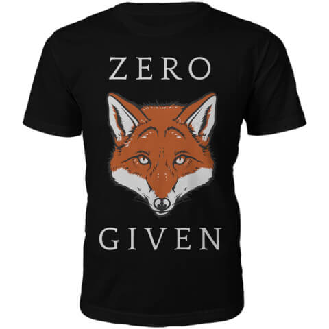 T-Shirt Unisexe Zero Fox Given -Noir