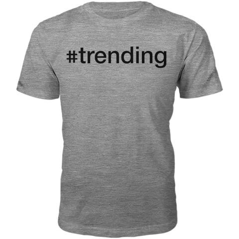 #Trending Slogan T-Shirt - Grey