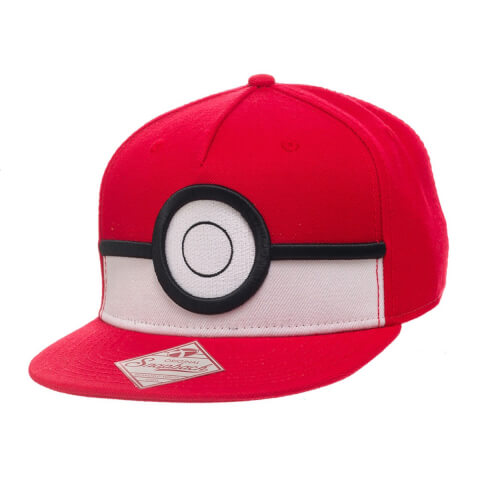 Casquette Pokémon Poké Ball -Rouge/Noir/Blanc