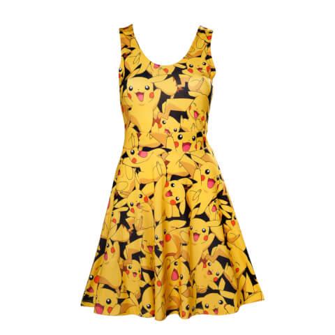 Pokémon Women's All Over Pikachu Dress - Yellow