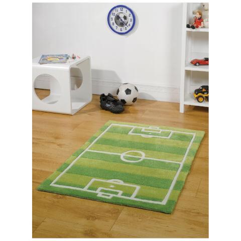 Tapis Flair Kiddy Play Rugs - Terrain de Football (70X100)