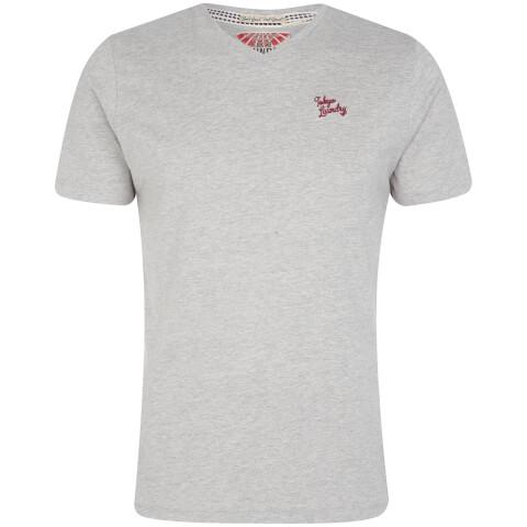 Tokyo Laundry Men's Essential V Neck T-Shirt - Light Grey Marl
