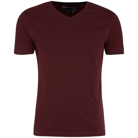 T-Shirt Homme Guilford Col V Dissident -Rouge Sang de Bœuf