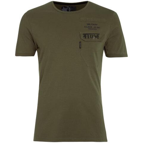 Dissident Men's Millcare Pocket T-Shirt - Amazon Khaki