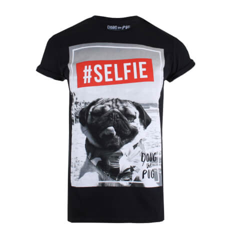 Doug The Pug Women's Selfie T-Shirt - Black