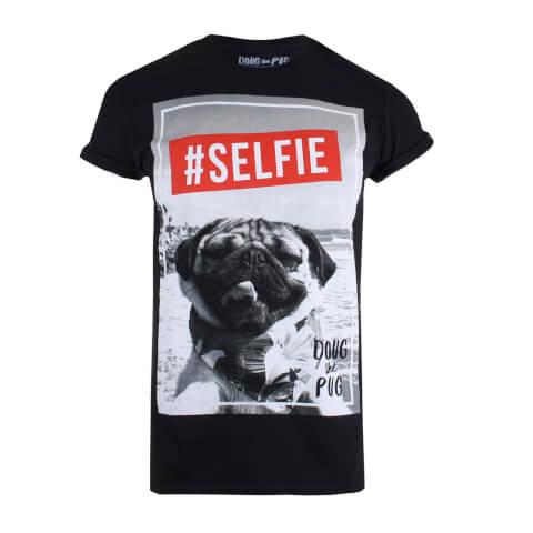 T-shirt Homme Doug The Pug Selfie - Noir