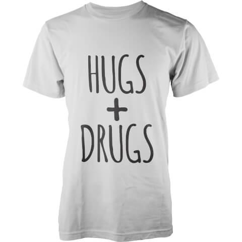 T-Shirt Homme Hugs + Drugs - Blanc