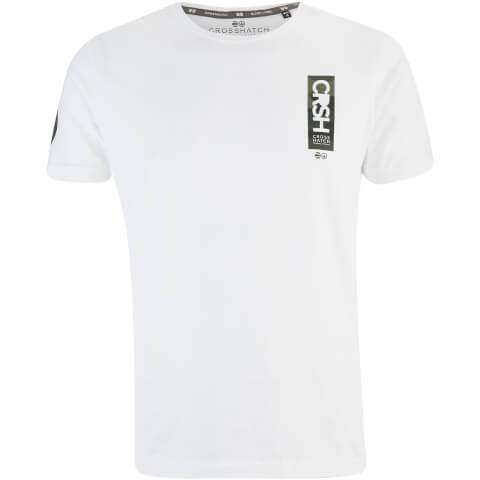 T-Shirt Homme Markab Crosshatch -Blanc