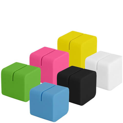 Polaroid 6 Colourful Cubic Photo Stands (For 2x3 Inch Film/Paper) - Multicoloured