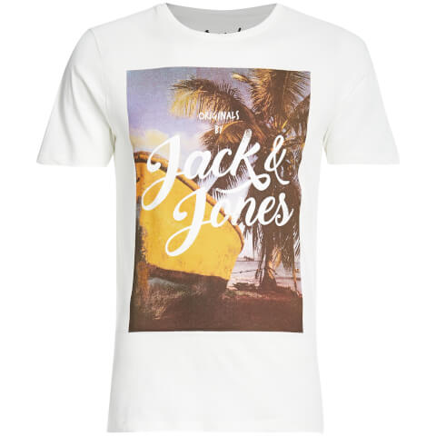 T-Shirt Homme Originals Travel Jack & Jones -Blanc