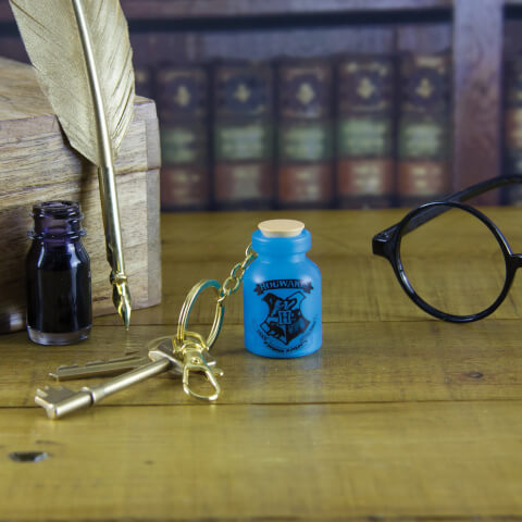 Harry Potter Light Up Potion Bottle Keyring - Blue
