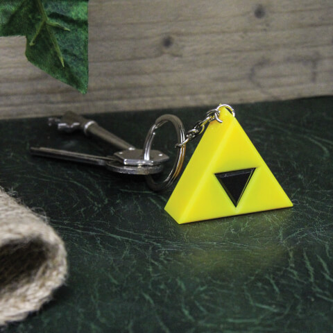 The Legend of Zelda: Ocarina of Time Triforce Keyring Light - Yellow
