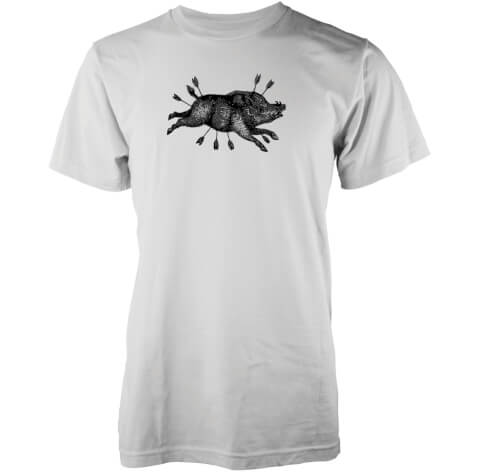 Abandon Ship Men's Boar Arrow T-Shirt - White