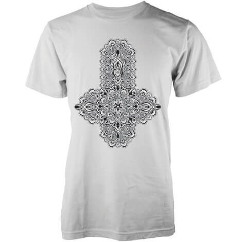 T-Shirt Homme Floral Black Cross Abandon Ship - Blanc