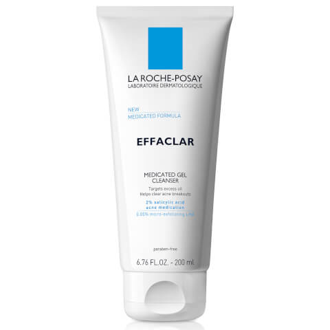 La Roche-Posay Effaclar Medicated Gel Cleanser for Acne Prone Skin with Salicylic Acid, 6.76 Fl. Oz.