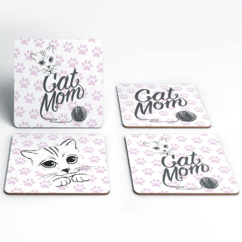 Cat Mom Coaster Set