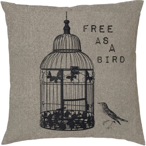 Free As A Bird Cushion - Neutral (45 x 45cm)